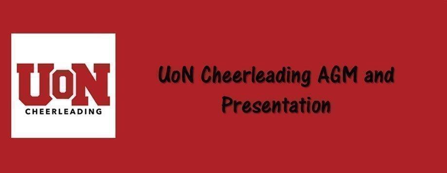 UoN Cheerleading AGM and Presentation