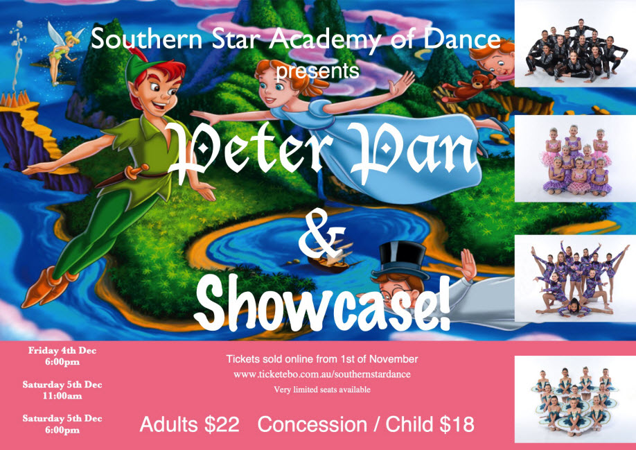 Peter Pan & Showcase! EVENING SHOW | Sat 5 Dec