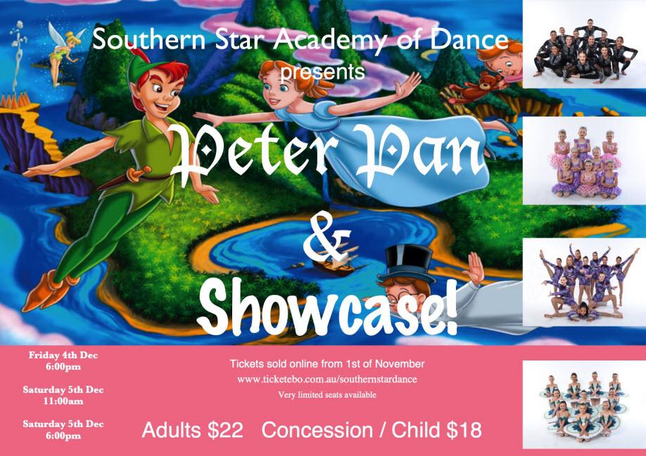 Peter Pan & Showcase! EVENING SHOW | Fri 4 Dec