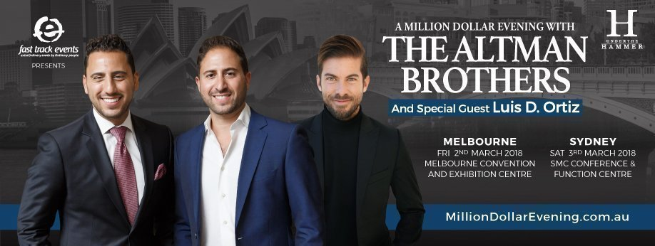 A Million Dollar Evening with The Altman Brothers & Luis D. Ortiz: SYDNEY