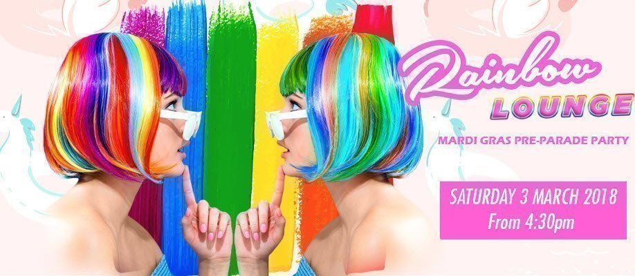 Rainbow Lounge 2018: Mardi Gras Pre-Parade Party