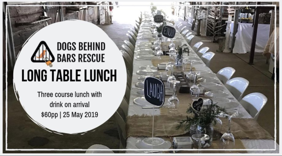 Dogs Behind Bars Rescue Long Table Lunch