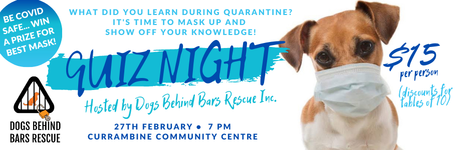 Dogs Behind Bars Annual Quiz Night