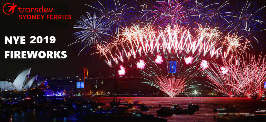 NYE 2019 Sydney Harbour of Lights 9pm & Midnight Fireworks: Emerald 3 Depart Circular Quay