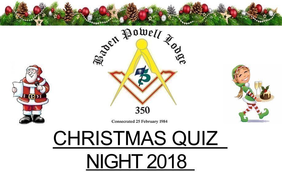 Baden Powell Masonic Lodge Christmas Quiz Night 2018