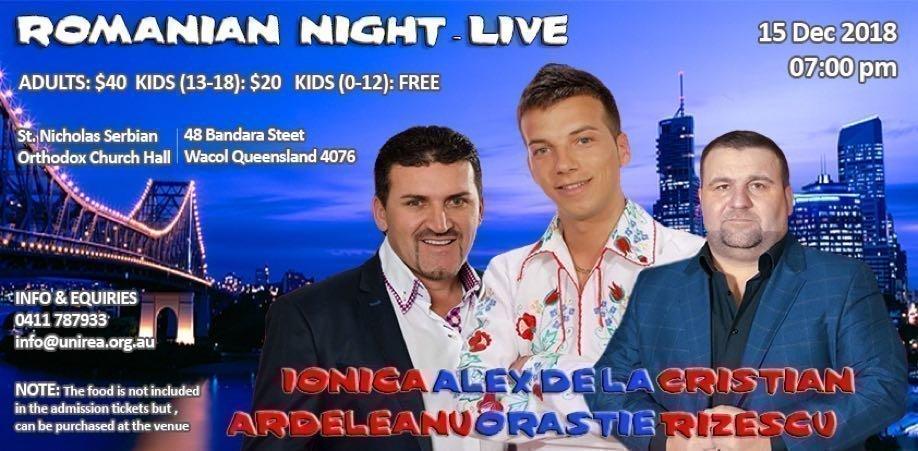 Romanian Night – 100% Live with Ionica Ardeleanu, Alex de la Orastie & Cristian Rizescu
