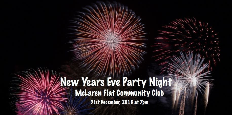 New Year's Eve Party Night, McLaren Flat Community Club
