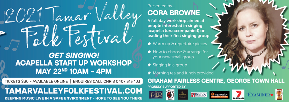 2021 Tamar Valley Folk Festival | 'Get Singing' Acapella Workshop
