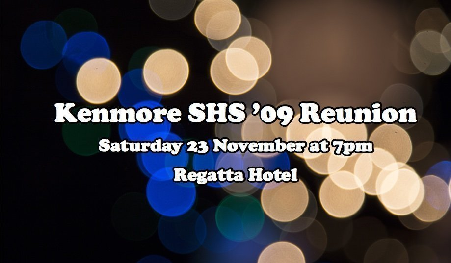 Kenmore SHS '09 Reunion