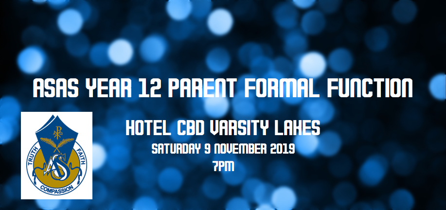 ASAS Year 12 Parent Formal Function