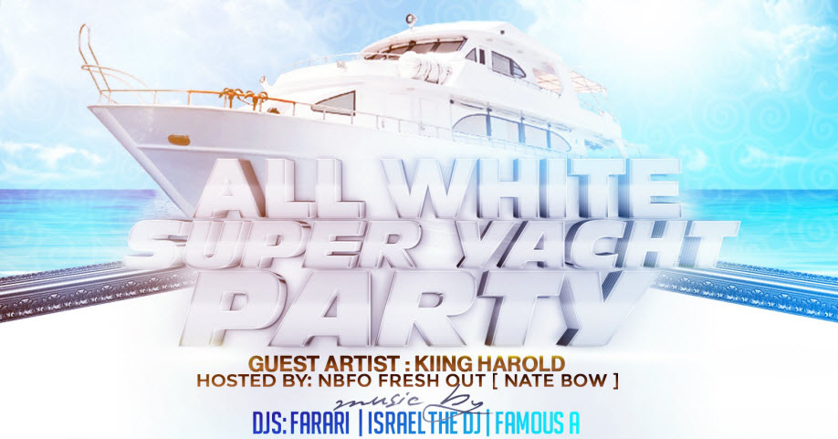 ALL WHITE SUPER YACHT PARTY