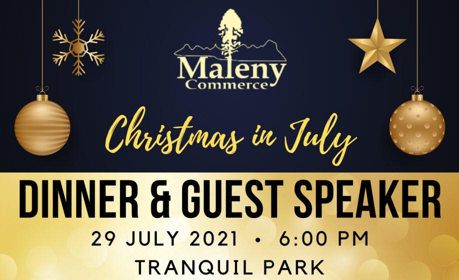 Christmas in July Dinner & Guest Speaker Eric Bailey