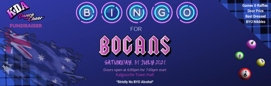 Bogans, Bevies and Bingo Night!