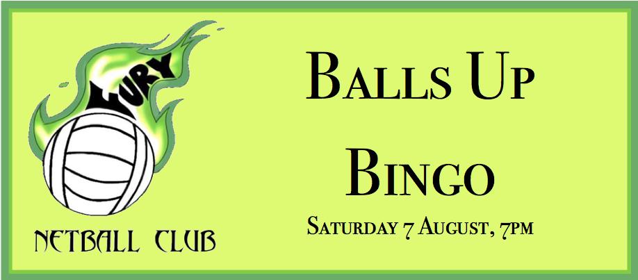 Fury Netball Club 'Balls Up Bingo'