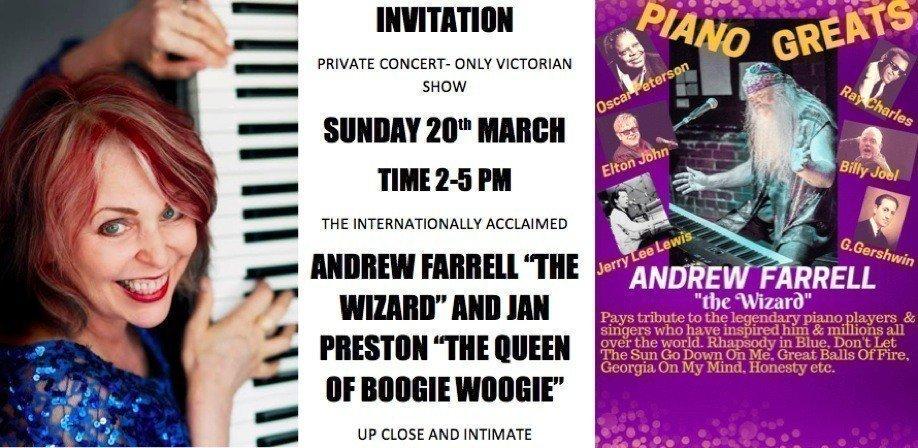 Private Concert ANDREW FARRELL & JAN PRESTON
