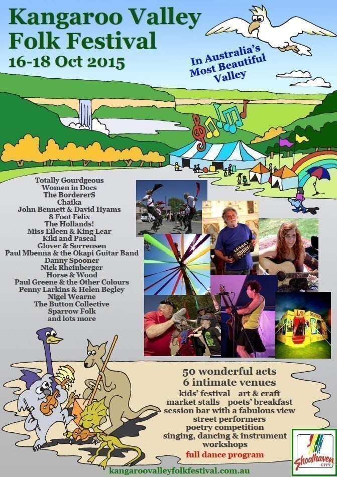 A celebration of music, dancing, comedy, art and craft in Australia's most beautiful valley. The festival concerts start Friday afternoon and there is a ...