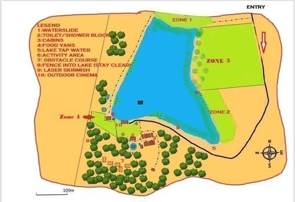 Map of 4 camp sites