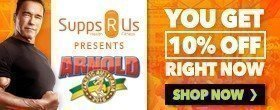 Save 10% at Supps R Us Arnold Special Offer