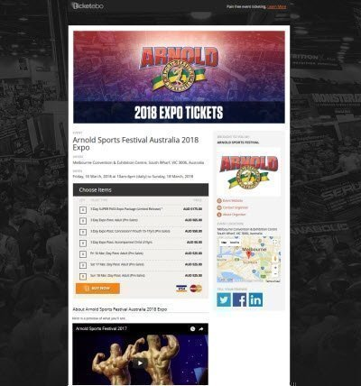 Arnold Sports Festival Australia 2018 Expo screenshot