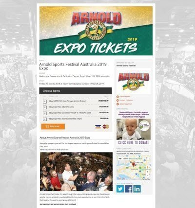 Arnold Sports Festival Australia 2019 Expo tickets