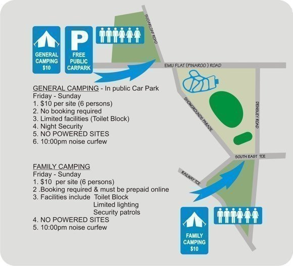Camping Sitemap