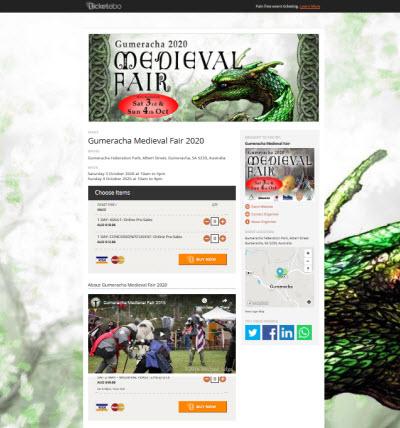 Gumeracha Medieval Fair 2021 tickets