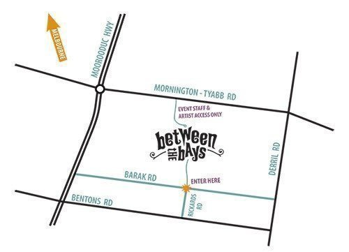 Between The Bays Map