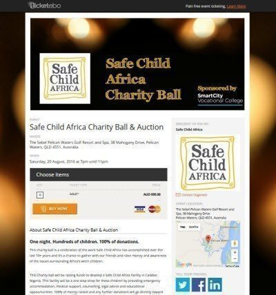Safe Child Africa Charity Ball