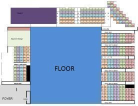 PIT Gymnastics Seating Plan