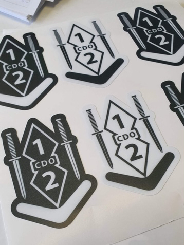 Double Dagger Sticker