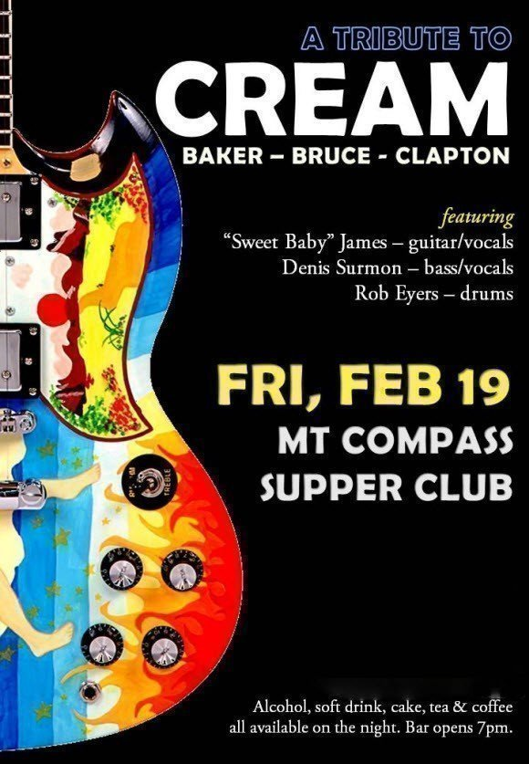 eric clapton cream band rendition at the mount compass supper club