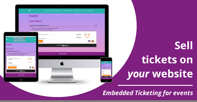 Embed your ticketing solution inside your own website